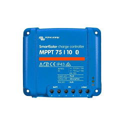 BlueSolar MPPT 75/10  12,24Vdc | 10A | max 75Voc | max 120W-12V/240W-24V  LEDS
