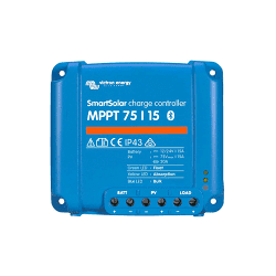 Blue Solar MPPT 75/15 | 12.24Vdc | 15A | max 75Voc | max 200W-12V/400W-24V | LEDS (Stock)