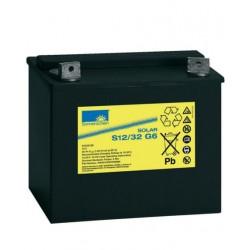 Batería de GEL Sonnenschein 12V y 32Ah C100
