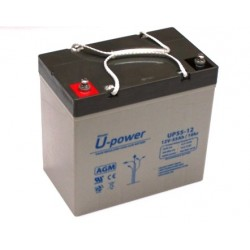 Batería AGM de 12V y 55 Ah C20 | 229x138x235mm | 18kg