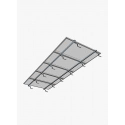 Estructura Coplanar a 0º | 2 paneles 100W a 160W