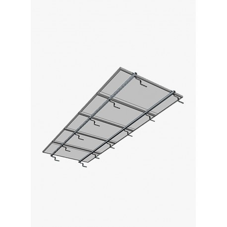Estructura Coplanar a 0º | 5 paneles 100W a 160W