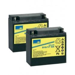 Batería de GEL Sonnenschein 12V y 17Ah C100
