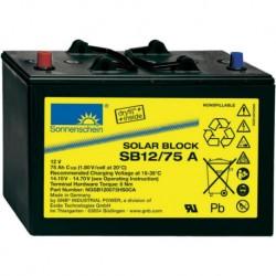 Batería de GEL Sonnenschein 12V y 75Ah C100