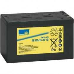 Batería de GEL Sonnenschein 12V y 6,6Ah C100