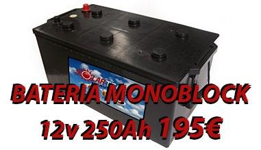 Bateria Monoblock 250Ah 12V