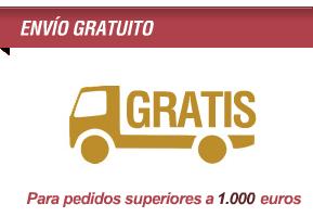 Envío gratuito para pedidos superiores a 1.000 euros