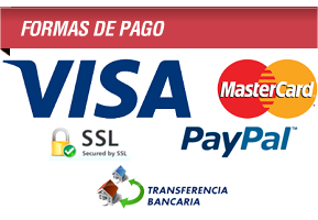 Formas de pago: MasterCard, VISA, Secured by SSL